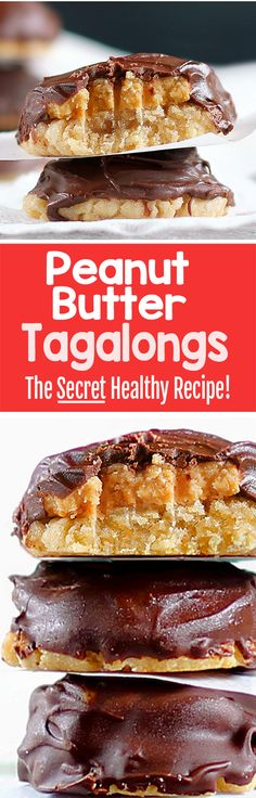 Healthy Peanut Butter Tagalongs, with NO flour, and no refined sugar, all vegan girl scout cookies