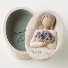Thankyou Keepsake Box - Willow Tree Figurine - The Shabby Shed  Sentiment: Appreciating your kindness!
