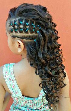 20 Exciting New Intricate Braid Updo Hairstyles PoPular Haircuts - Flechtfrisuren Cute Little Girl Hairstyles, Baby Girl Hairstyles, Kids Braided Hairstyles, Cute Hairstyles, Curly Hair Styles, Natural Hair Styles, Girl Hair Dos, Braids For Short Hair, Kid Braids