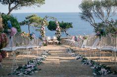convent de blames, decoration, bodas de cuento , arco, bodas arco de flores, bodas en la playa , vistas al mar