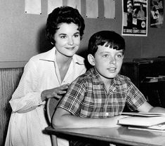 """Alice Landers (Sue Randall), """"Leave It to Beaver"""" Jerry Mathers, Welcome Back Kotter, The Miracle Worker, Teachers Strike, Leave It To Beaver, Rosalind Russell, Anne Bancroft, Viking Life, Maggie Smith"""