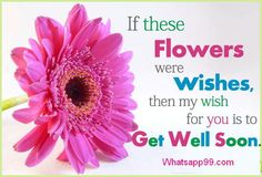 My wish for you is to get well soon