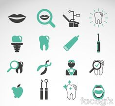 Free download 16 green teeth care icon vector . Free vector includes Vector material, mouth, teeth, toothbrushes, toothpaste, dental care, dental care, icon, fa