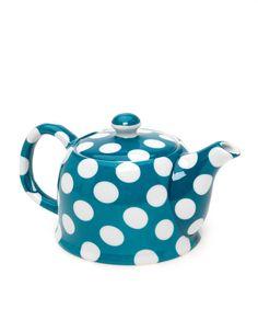 Polka dot tea pot