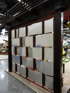 Cool basketweave metal and wooden divider/wall> danger garden: The 2013 Yard, Garden & Patio Show…