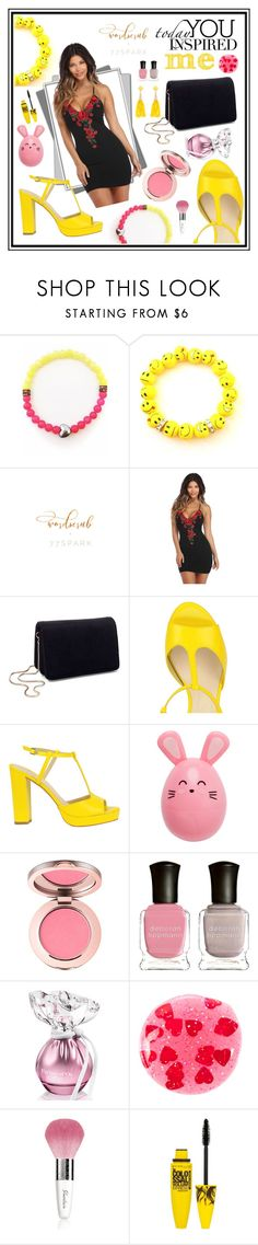 """""""77Spark Contest"""" by hodzicalena ❤ liked on Polyvore featuring Miss Selfridge, Deborah Lippmann, ncLA, Guerlain, Maybelline and Eloquii"""