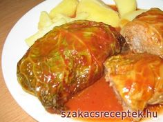 Plnená kapusta listy, paradajková omáčka Sauerkraut, What To Cook, Meatloaf, Crockpot, Main Dishes, Cabbage, Food And Drink, Cooking Recipes, Vegetables