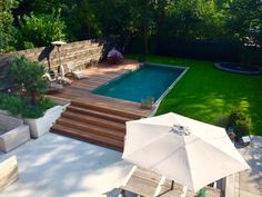 Exterior Design Backyard Landscaping Small Pools 45 New Ideas Small Backyard Pools, Backyard Pool Designs, Small Pools, Backyard Patio, Outdoor Pool, Outdoor Ideas, Backyard Ideas, Outdoor Decor, Swimming Pools Backyard