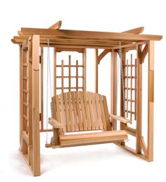 Cedar Pergola Swing Set - great with climbing vines for extra shade