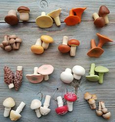 Cute Polymer Clay, Cute Clay, Polymer Clay Miniatures, Fimo Clay, Polymer Clay Charms, Ceramic Clay, Polymer Clay Jewelry, Polymer Clay Mushroom, Clay Art Projects