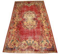 www.aksaraycarpet.com #carpet #rug #vintage #handmade #handwoven #etsy  #medallion Turkish Vintage Rug With Medallion Design 109 x 65