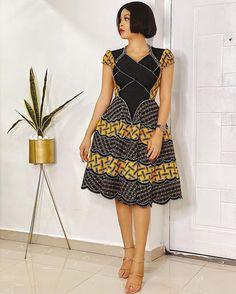 Low Neckline Ankara Dress