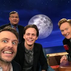 "6,494 Likes, 56 Comments - Chris Hardwick (@hardwick) on Instagram: ""I'm on @teamcoco tonight w/ Pennywise himself @billskarsgard_! He bit my arm off and it was cool."""