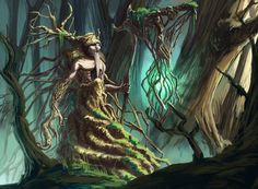 Leshy, an art print by Konrad Langa Magical Creatures, Fantasy Creatures, Character Creation, Character Design, Tree Monster, Sign Of The Cross, My Fantasy World, Gods And Goddesses, Photo Canvas