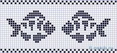 Ideas Knitting Charts Fish Fair Isles For 2019 Beaded Cross Stitch, Cross Stitch Baby, Cross Stitch Animals, Cross Stitch Embroidery, Cross Stitch Patterns, Fair Isle Knitting Patterns, Knitting Charts, Crochet Patterns, Fair Isle Chart
