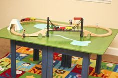 diy train table from Honeybear Lane! Awesome and inexpensive! (Roadkill Rescue Feature)