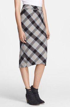 3ba160fd9 Free People  Geometric Precision  Plaid Pencil Skirt