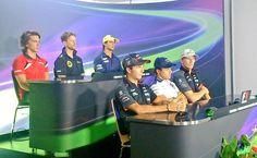 Felipe Nasr at Thursday's driver press conference @ Hungary