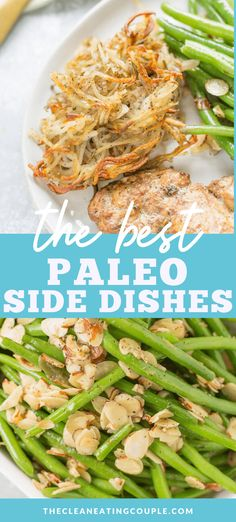 These Healthy Paleo Side Dishes are perfect for any meal or holiday dinner. Naturally gluten free, dairy free   full of flavor! These easy side dishes are great to make for Thanksgiving, dinner, or any time! Serve them with chicken, steak, or at a party! #paleo #thanksgiving Hamburger Side Dishes, Side Dishes For Chicken, Paleo Side Dishes, Side Dishes Easy, Side Dish Recipes, Food Dishes, Holiday Side Dishes, Thanksgiving Side Dishes, Thanksgiving Recipes