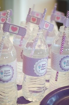 Drink Plenty of Fluids | Water Bottle labels for a Doc McStuffins inspired birthday party
