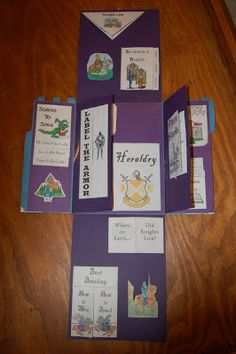 Castle lap book unfolded.  Could be adapted for fairy tale unit.