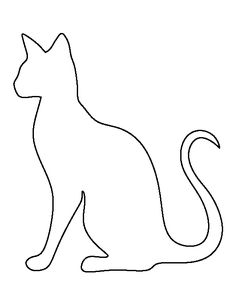 Siamese cat pattern. Use the printable outline for crafts, creating stencils, scrapbooking, and more. Free PDF template to download and print at http://patternuniverse.com/download/siamese-cat-pattern/