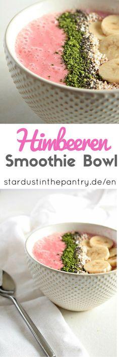 Gesunde und leckere Himbeeren Smoothie Bowl!