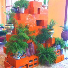 Cinder Block Garden I found at Anthropologie!