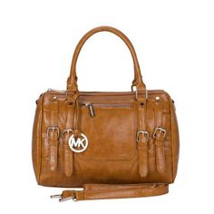 $68 2013 Michael Kors Grayson Logo Large Tan Satchels
