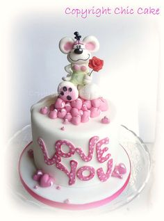 love you Diddl Cake by ChicCake