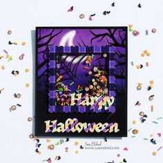 How to make a Not So Spooky Halloween Shaker Card using dies from The Maker's Movement. @jointhemakersmovement #halloween #cards