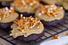 Chocolate Stout Cookies with Salted Caramel Frosting & Pretzels by t.sullivan photography, via Flickr