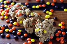 No Bake Reeces pieces Cookies. Very good, but really really sweet.. Make to share around!
