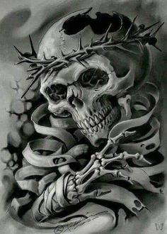 Hailin Tattoo, the tattoo studio of master tatoo artist Hailin Fu located in Hollywood, Los Angeles. Skull Tattoo Design, Skull Design, Skull Tattoos, Art Tattoos, Tattoo Designs, Demons Tattoo, Arte Lowrider, Model Tattoo, Tatoo