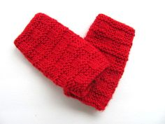 Fingerless Gloves Hand Warmers in Bright Red by AllAboutTheButtons, $18.00 USD
