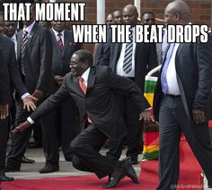 Robert Mugabe the dictator of Zimbabwe and all all around asshole is striving to suppress pics of him slipping more than in Harare air