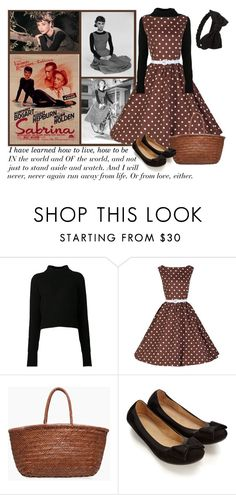 """""""I have learned"""" by montse-gallardo ❤ liked on Polyvore featuring Acne Studios, Dragon, Accessorize, Forever 21, vintage, flats, polkadot and audreyhepburn"""