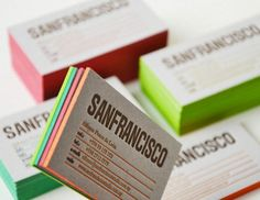 Sanfrancisco Estudio - Lovely Stationery . Curating the very best of stationery design. Letterpress design business card