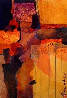 One Nineteen 12072 by Carol Nelson mixed media ~ 17.8 x 12