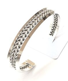 Sterling Silver Native American Indian Navajo Cuff Bracelet C041701 Signed Tahe.