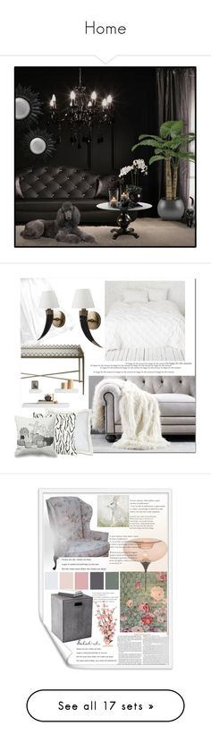 """Home"" by sabah-zhr ❤ liked on Polyvore featuring interior, interiors, interior design, home, home decor, interior decorating, Ethan Allen, American Eagle Outfitters, WALL and Sunpan"
