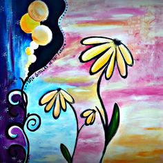 ARTFINDER: She Smiles at Her Future by Jessica Sanders - Soulful artwork inspired by life's journey.  She looks to the future with hopeful anticipation, knowing in her spirit that it is good.  United States:  Pai...