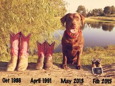 Baby Announcement #Dog #Pond #Country #Boots