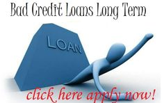 Bad credit loans long term are planned for people with poor credit tag in past. Any one people apply bad credit loans and get of these loans without any credit checks and hassle free now today for approval.