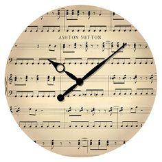 Music Note Wall Clock