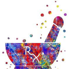 'Pharmacist Pestle and Mortar' by Rosaliartbook Pharmacy Student, Pharmacy School, Pharmacy Design, Medical Students, Paper Wallpaper, Flower Wallpaper, Medical Wallpaper, Pharmacy Technician, Medical Art