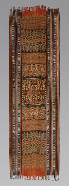 Ceremonial Hanging (Porilonjong)  Date: 19th century Geography: Indonesia, Sulawesi, Sulawesi, Ronkong Culture: Toraja people Medium: Cotton Dimensions: 193 1/2 x 60 1/2 in. (491.5 x 153.7 cm)