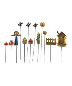 Another great find on #zulily! Mini Fall Garden Stake Set #zulilyfinds