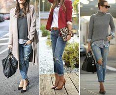 пример boyfriend с кардиганом, пиджаком, длинным пальто