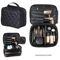 f4fd93427df4 InstaMarine Premium Travel Makeup Bag Cosmetic Case Organizer for Men and  Women Portable Largest Storage Capacity Clear Pockets Detachable  Compartment Leak ...